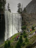 Vernal Falls with hikers