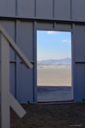 Looking out to deep playa from Burn Wall Street.
