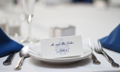 The place settings were simple and elegant.