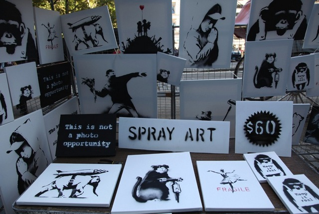 Banksy-Stall-Spray-Art-Central-Park-South-NYC-Signed